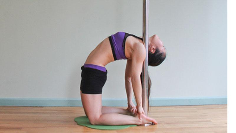 pole yoga 2  Йога с пилоном: