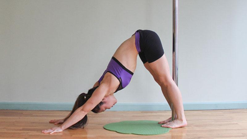 pole yoga 4  Йога с пилоном: