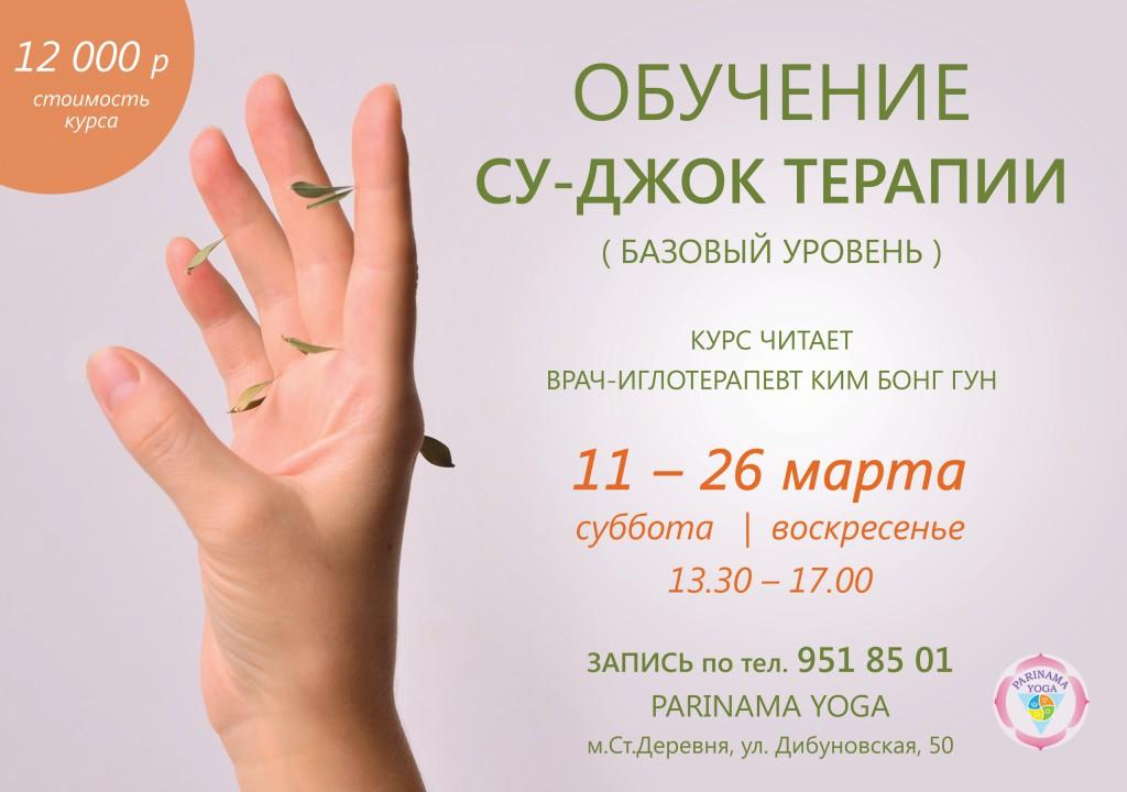 sudjok  Су Джок терапия   курс 11 26 марта в Parinama Yoga: